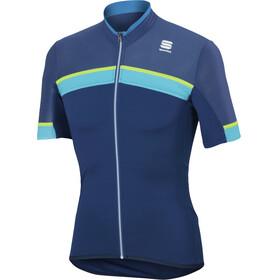 Sportful Pista SS Jersey Men, blue twilight/electric blue/yellow